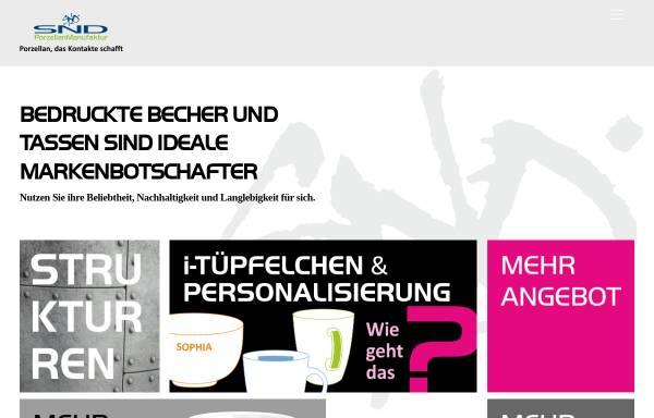 Vorschau von www.snd-porzellan.de, SND Porzellan Manufaktur GmbH