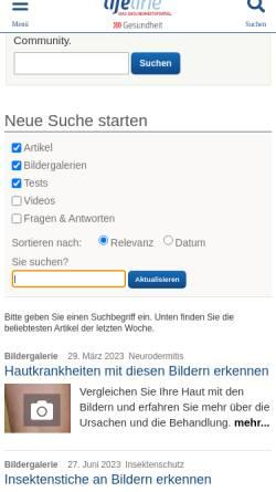Vorschau der mobilen Webseite www.qualimedic.de, Tuberkulose