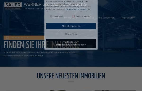 Vorschau von sauer-gewerbeimmobilien.de, Werner und Sabine Sauer Gewerbeimmobilien
