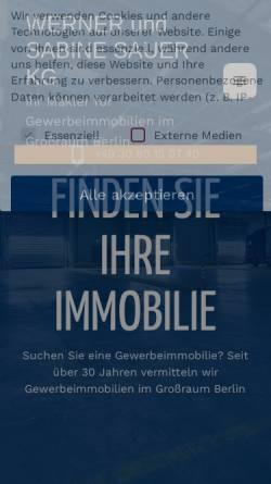 Vorschau der mobilen Webseite sauer-gewerbeimmobilien.de, Werner und Sabine Sauer Gewerbeimmobilien