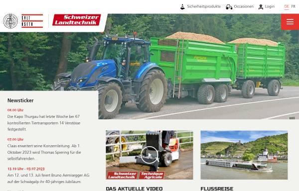 Vorschau von www.agrartechnik.ch, Schweizerischer Verband für Landtechnik - SVLT