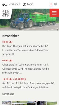 Vorschau der mobilen Webseite www.agrartechnik.ch, Schweizerischer Verband für Landtechnik - SVLT