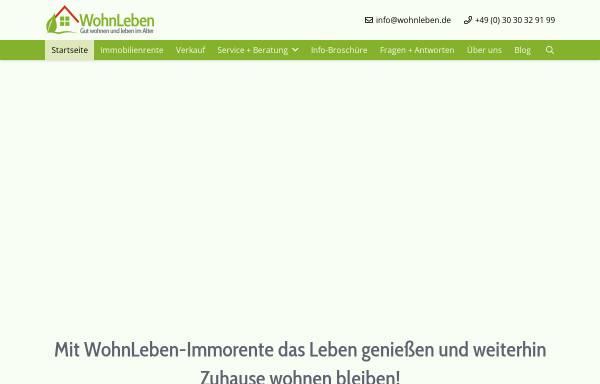 Vorschau von www.wohnlife.de, Wohnlife Immobilien Service GmbH
