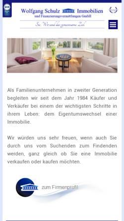Vorschau der mobilen Webseite www.wolfgang-schulz-immobilien.de, Wolfgang Schulz Immobilien GmbH