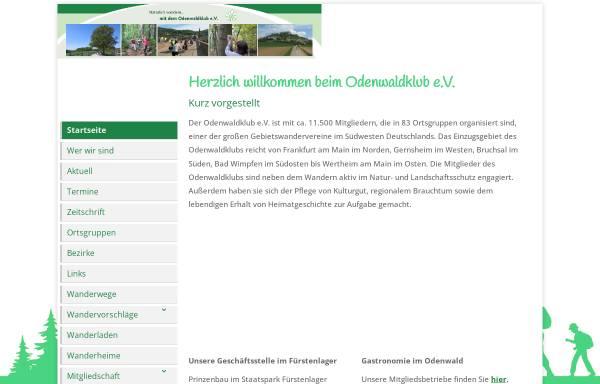 Vorschau von www.odenwaldklub.de, Odenwaldklub e.V.