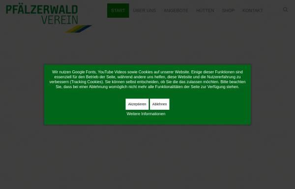 Vorschau von www.pwv.de, Pfälzerwald-Verein