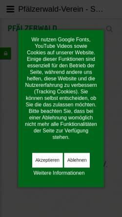 Vorschau der mobilen Webseite www.pwv.de, Pfälzerwald-Verein