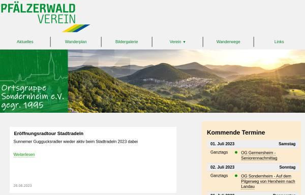 Vorschau von www.pwv-sondernheim.de, Pfälzerwald-Verein Ortsgruppe Sondernheim