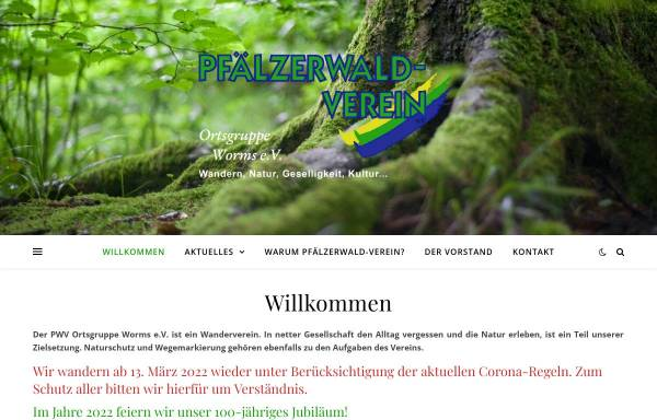 Vorschau von www.pwv-worms.de, Pfälzerwald-Verein Ortsgruppe Worms