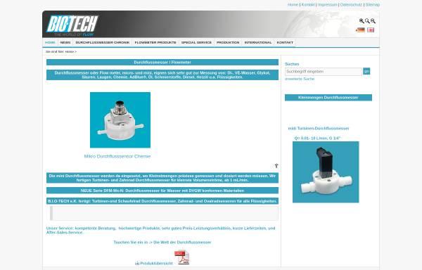 Vorschau von www.btflowmeter.com, B.I.O-TECH e.K. - Durchflussmesstechnik