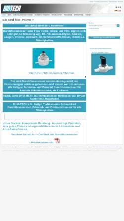 Vorschau der mobilen Webseite www.btflowmeter.com, B.I.O-TECH e.K. - Durchflussmesstechnik