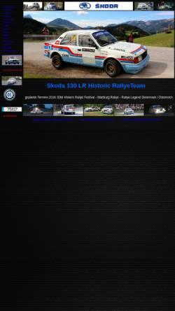 Vorschau der mobilen Webseite www.s130lr.de, Skoda Rallyeteam Kayser / Roth