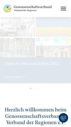 Vorschau der mobilen Webseite www.rwgv.de, Rheinisch-Westfälischer Genossenschaftsverband e.V. (RWGV)