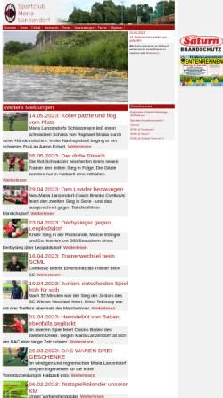 Vorschau der mobilen Webseite www.scml.at, Sportclub Maria Lanzendorf