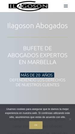 Vorschau der mobilen Webseite www.ilagoson.com, Ilagoson Anwaltskanzlei