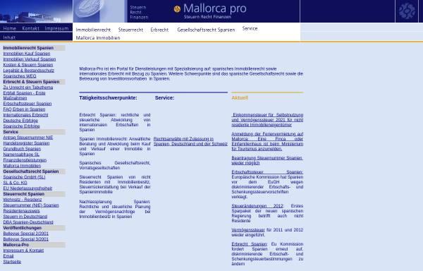 Vorschau von www.mallorca-pro.de, Mallorca Pro