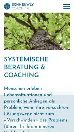 Vorschau der mobilen Webseite www.schneuwly.info, Beratung & Coaching Hubert Schneuwly-Studer