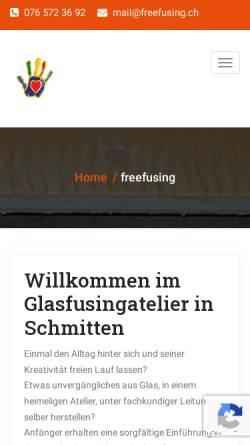 Vorschau der mobilen Webseite www.freefusing.ch, Freefusing