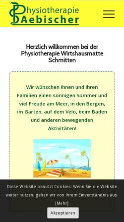 Vorschau der mobilen Webseite www.physioaebischer.ch, Physiotherapie Wirtshausmatte