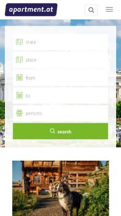 Vorschau der mobilen Webseite www.apartment.at, Apartment Service Vienna