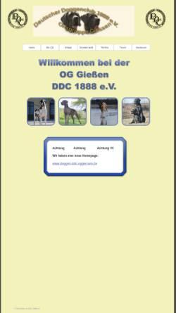 Vorschau der mobilen Webseite ddc-oggiessen.de, Ortsgruppe Gießen des DDC