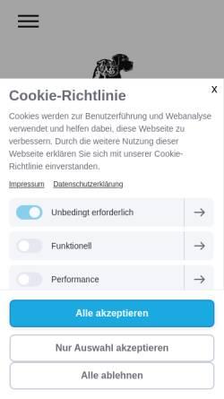 Vorschau der mobilen Webseite www.deutscher-doggen-club.ch, Schweizerischer Club für Deutsche Doggen