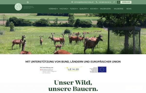 Vorschau von www.wildhaltung.at, Arbeitsgemeinschaft landwirtschaftlicher Wildhalter Österreichs