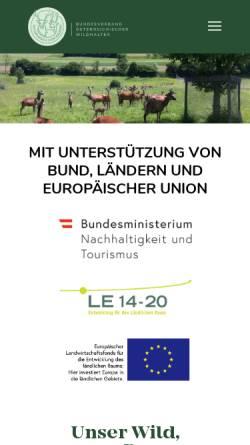 Vorschau der mobilen Webseite www.wildhaltung.at, Arbeitsgemeinschaft landwirtschaftlicher Wildhalter Österreichs