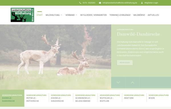 Vorschau von www.damwildfarming.de, Landesverband Damwild farming mitte-west