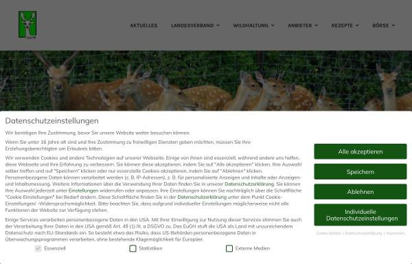 Vorschau von www.wildhalter-thueringen.de, Landesverband Landwirtschaftlicher Wildhalter e.V. Thüringen