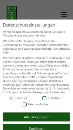 Vorschau der mobilen Webseite www.wildhalter-thueringen.de, Landesverband Landwirtschaftlicher Wildhalter e.V. Thüringen