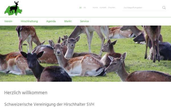 Vorschau von svh.caprovis.ch, Schweizerische Vereinigung der Hirschhalter
