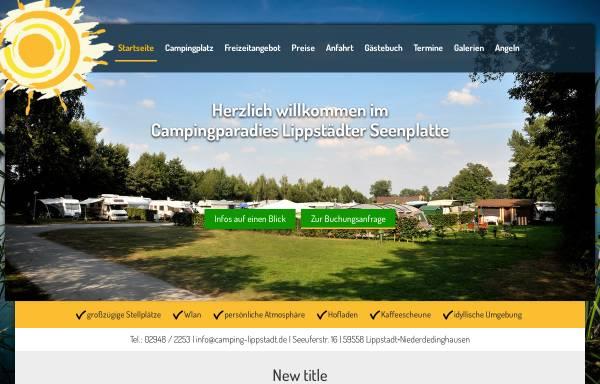 Vorschau von www.camping-lippstadt.de, Campingparadies Lippstädter Seenplatte