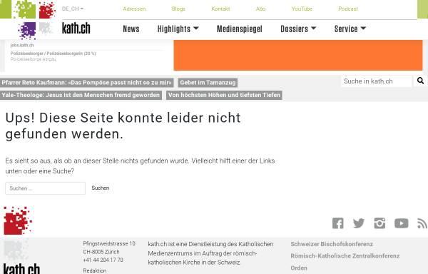 Vorschau von www.kath.ch, Katholische Arbeitsstelle