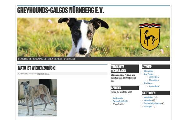 Vorschau von www.greyhound-galgo.de, Greyhounds-Galgos Nürnberg e.V.