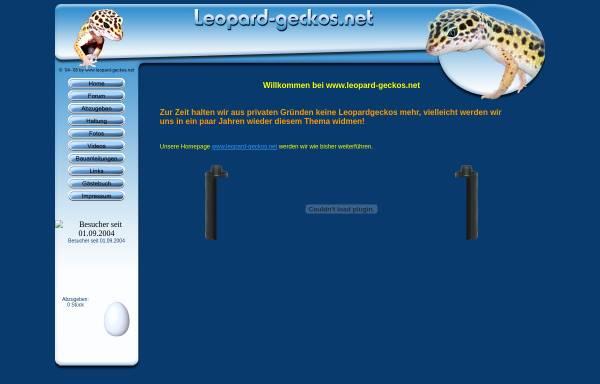 Vorschau von www.leopard-geckos.net, Informationen zur Haltung und Zucht von Leopardgeckos