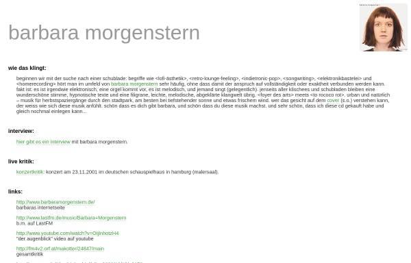 Vorschau von www.wolldingwacht.de, Morgenstern, Barbara: Fansite