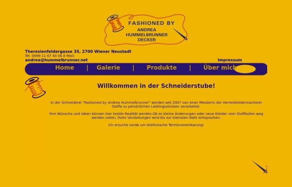 Vorschau von www.hummelbrunner.net, Fashioned by Andrea Hummelbrunner