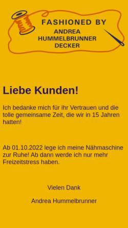 Vorschau der mobilen Webseite www.hummelbrunner.net, Fashioned by Andrea Hummelbrunner
