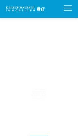 Vorschau der mobilen Webseite www.kerschbaumer.cc, Kerschbaumer Immobilien