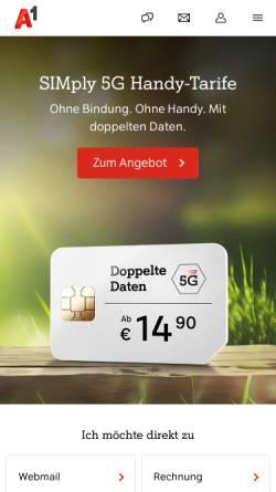 Vorschau der mobilen Webseite members.aon.at, Let´s Talk