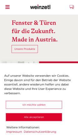 Vorschau der mobilen Webseite www.weinzetl.at, Weinzetl Fenster