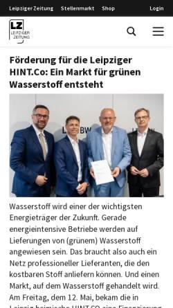 Vorschau der mobilen Webseite www.l-iz.de, L-IZ Mitteldeutsche Online Medien