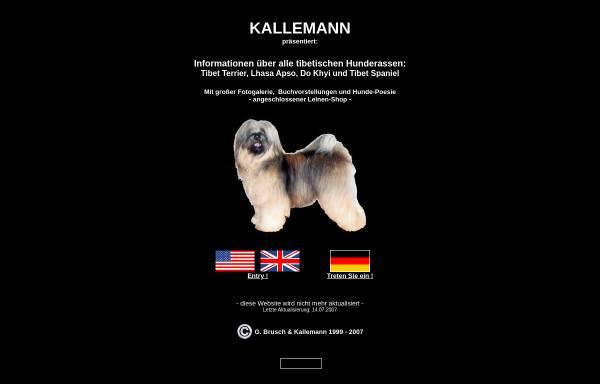 Vorschau von www.kallemann.de, Kallemanns tibetische Hundepage