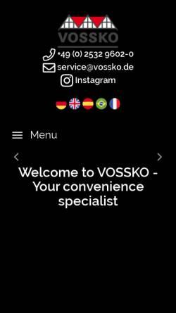 Vorschau der mobilen Webseite www.vossko.de, Vossko Tiefkühlkost GmbH