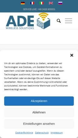 Vorschau der mobilen Webseite www.anke-daude-electronic.de, Anke Daude Electronic, Anke Daude-Nick
