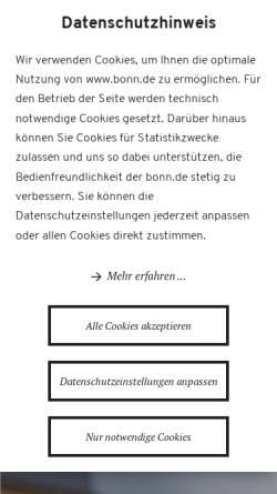 Vorschau der mobilen Webseite www.bonn.de, Bundesstadt Bonn