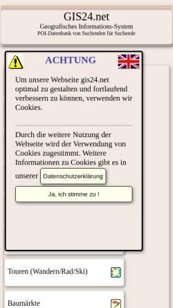 Vorschau der mobilen Webseite gis24.net, Geografisches Informationssystem Europa