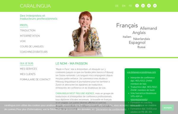 Vorschau von www.caralingua.com, CaraLingua