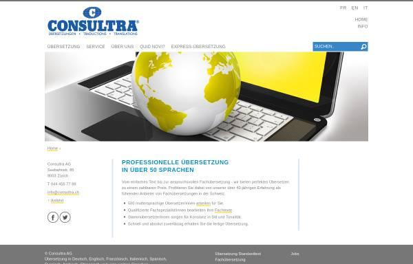 Vorschau von www.consultra.ch, Consultra AG